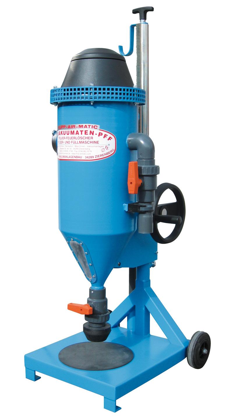 Pulversaugmaschine PFF-FLIPP-AIR-MATIC - FRITZ EMDE - Fabrikation von Maschinen und Vakuumanlagen