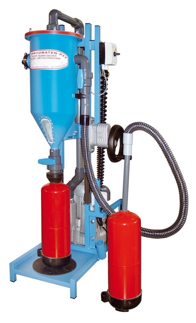 Pulversaugmaschine PFF-FLIPP-EK(W) - FRITZ EMDE - Fabrikation von Maschinen und Vakuumanlagen
