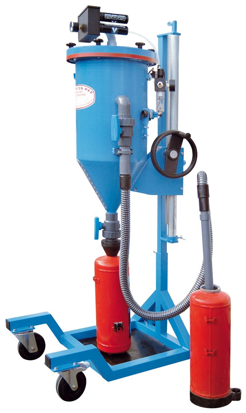 Tolva de polvo PFF-II/E - Taller de recarga de extintores - Tolvas de polvo - Carga de CO2 - Retimbrado, prueba hidráulica de alta y baja presión