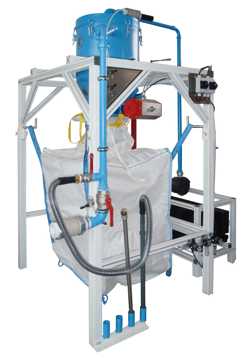 The Filling Rack, Model ABF 1000 Is For Filling The Old Powder Into  Big Bags Or Storage Container In A Dustless And Fast Way.