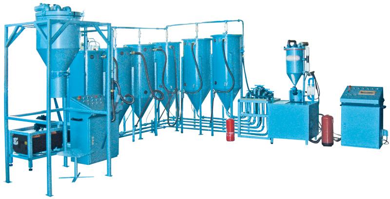 Pulverumfüllmaschine, Pulversaugmaschine PFF-SUMATIC-SV-100-W - FRITZ EMDE - Fabrikation von Maschinen und Vakuumanlagen