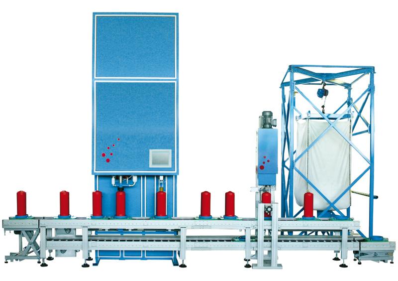 Pulverumfüllmaschine DSM-NEB - FRITZ EMDE - Fabrikation von Maschinen und Vakuumanlagen