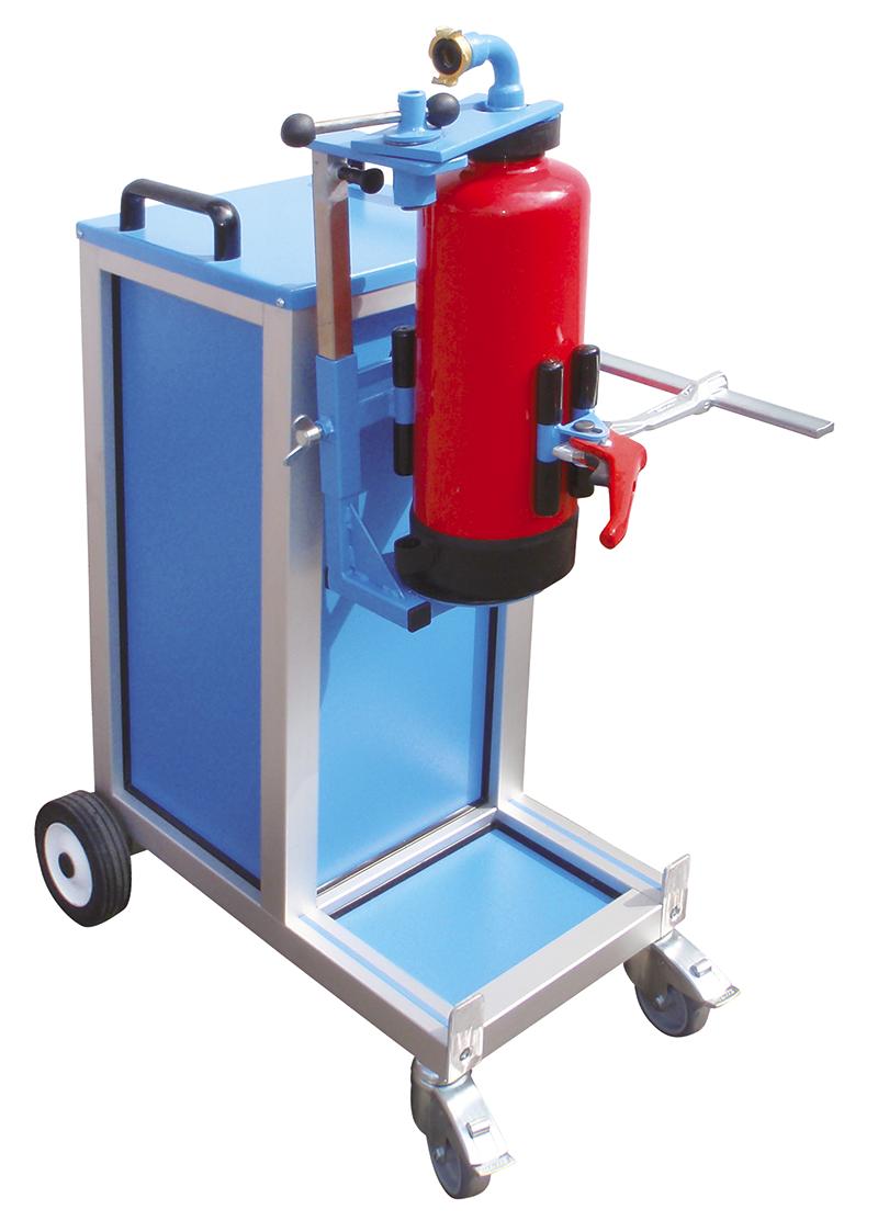 Pneumatische Feuerlöscher Spann- und Drehvorrichtung, PSDV I