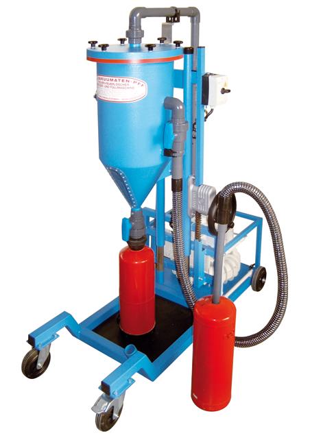 Tolva de polvo PFF-III/SWN - Máquinas para recarga y trasvase de extintores - Máquinas de CO2 - Secados - Pistola para la presurización con nitrógeno