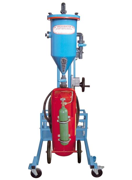 Tolva de polvo PFF-III/SWN-50 - Taller de recarga de extintores - Tolvas de polvo - Carga de CO2 - Retimbrado, prueba hidráulica de alta y baja presión