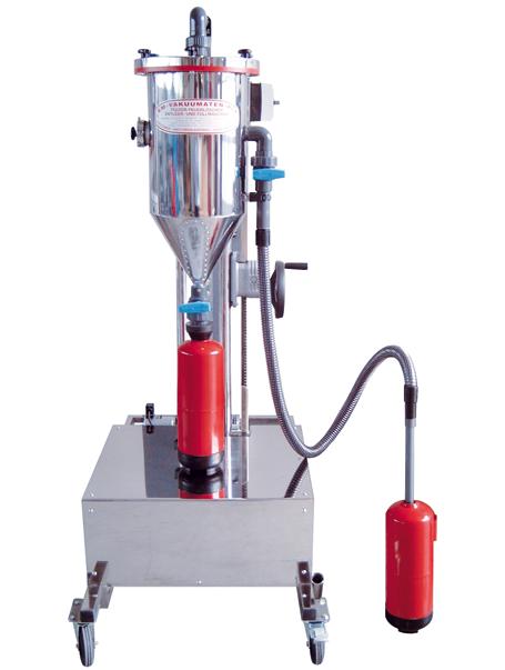 Tolva de polvo PFF-III/SWN-50-ES - Taller de recarga de extintores - Tolvas de polvo - Carga de CO2 - Retimbrado, prueba hidráulica de alta y baja presión