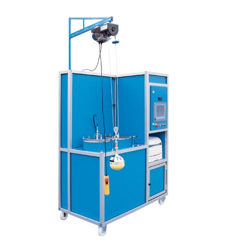 Hochdruck-Behälterprüfanlage HD-TA-CFK-2TP - FRITZ EMDE - Fabrikation von Maschinen und Vakuumanlagen