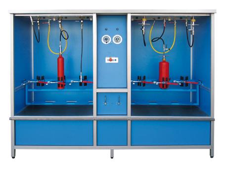 Hochdruck-Behälterprüfanlage HD-ND3+3 - FRITZ EMDE - Fabrikation von Maschinen und Vakuumanlagen