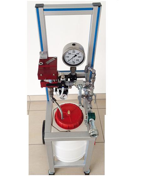 Hochdruck-Behälterprüfanlage HD-350-M - FRITZ EMDE - Fabrikation von Maschinen und Vakuumanlagen