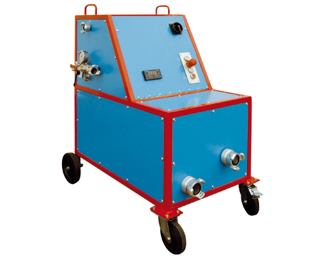 Hochdruck-Behälterprüfanlage, Wandhydranten Prüfgerät WHP - FRITZ EMDE - Fabrikation von Maschinen und Vakuumanlagen