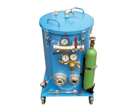Hochdruck-Behälterprüfanlage, Wandhydranten-Prüfgerät WHP-N3 - FRITZ EMDE - Fabrikation von Maschinen und Vakuumanlagen
