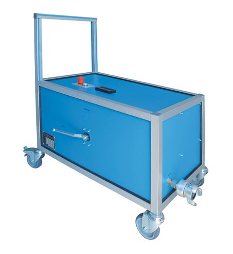 Prueba hindráulica de alta y baja presión - SHP - EMVAK – FRITZ EMDE, S.L. Fabricación · Máquinas · Sistemas de vacío