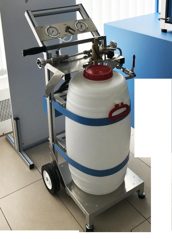 Hochdruck-Behälterprüfanlage, Hydrantenprüfpumpe HSP-F - FRITZ EMDE - Fabrikation von Maschinen und Vakuumanlagen