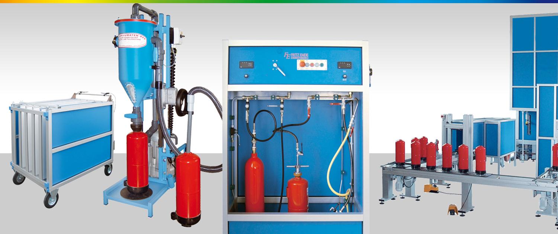 Emvak: Máquinas mantenimiento extintores, Taller recarga extintores, Máquinaria recarga extintores, Máquinas prueba hidráulica extintores, Máquinas retimbrar extintores