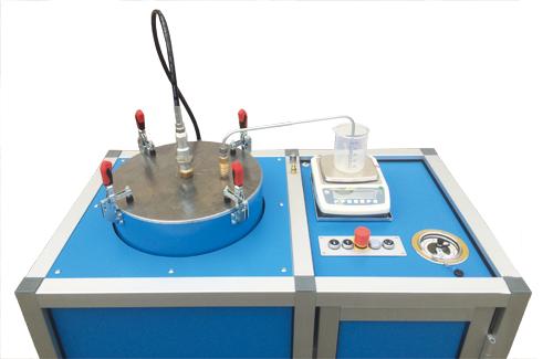 Hochdruck-Behälterprüfanlage HD-TA-CFK-1-W - FRITZ EMDE - Fabrikation von Maschinen und Vakuumanlagen