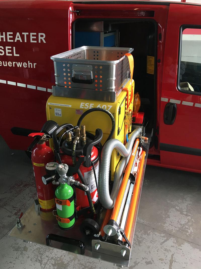 Fahrzeugeinbauten von Fahrzeugen für Feuerlöscher-Wartungsfirmen